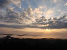 弥高山から見下ろす雲海